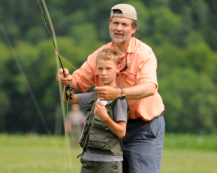 Der Kinderkurs ist der perfekte Einstieg zum Fliegenfischen