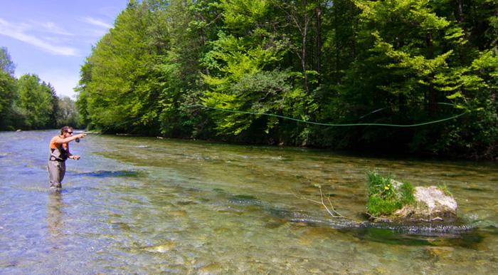 Fliegenfischen an der Hochberg Strecke