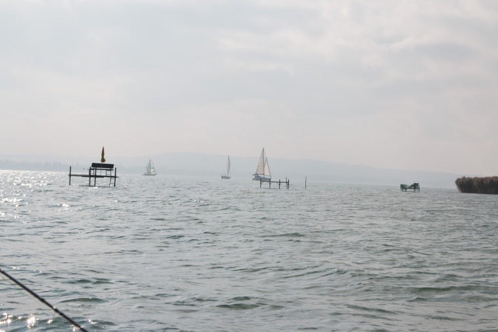 Carp Fishing Platform on Lake Balaton